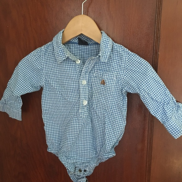 GAP Other - Baby gap blue gingham shirt